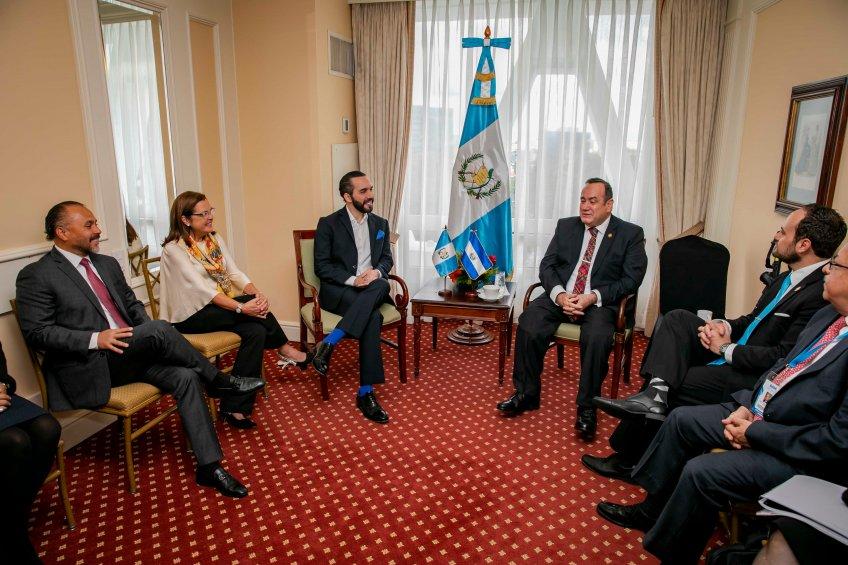 Reunión con Presidente electo de Guatemala.